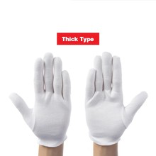 где купить 12 Pairs/lot White 100% Cotton Ceremonial Gloves For Male Female Serving / Waiters/drivers/Jewelry Gloves safety work gloves по лучшей цене