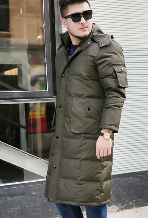 Hooded Long Men's Duck   Down     Coat   Winter Long 90%   Down   Jacket   Coat   Hooded Men   Down   Jacket Plus Size S-10XL