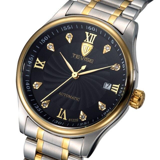 TEVISE Чоловічі Годинники найкращий бренд Класу Люкс Годинник Автоматичного Самообслуговування Вітер Бізнес Механічні Наручні Годинники Relogio чоловічий високу якість