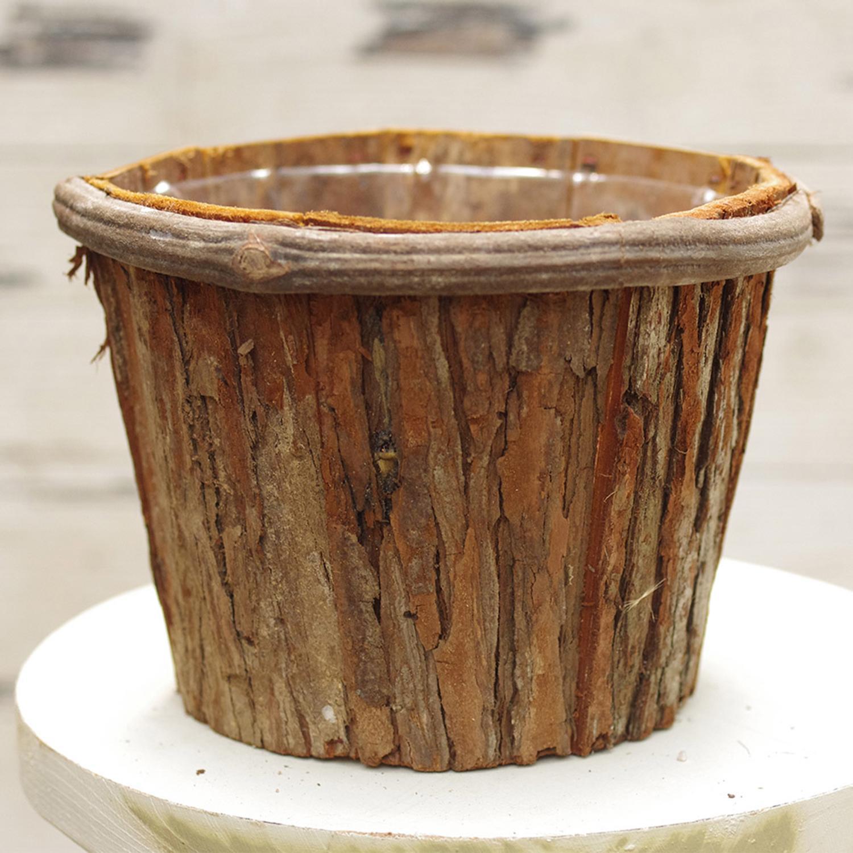 Wooden creative bucket Hydroponics flowerpot Fleshy plants Gardening ...