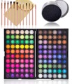 120 Cores Smoky Shimmer Matte sombra Pincéis de Maquiagem Profissional Da Paleta Da Sombra de Olho Cor Cleaner Beleza Make up Set