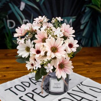 Sztuczny sztuczny sztuczny kwiat s NetNetherlands chryzantema 21 głów Aster novi-belgii sztuczny kwiat do sklepu Home Decor tanie i dobre opinie CN (pochodzenie) Flower Sztuczne kwiaty Daisy Bukiet kwiatów Ślub Jedwabiu