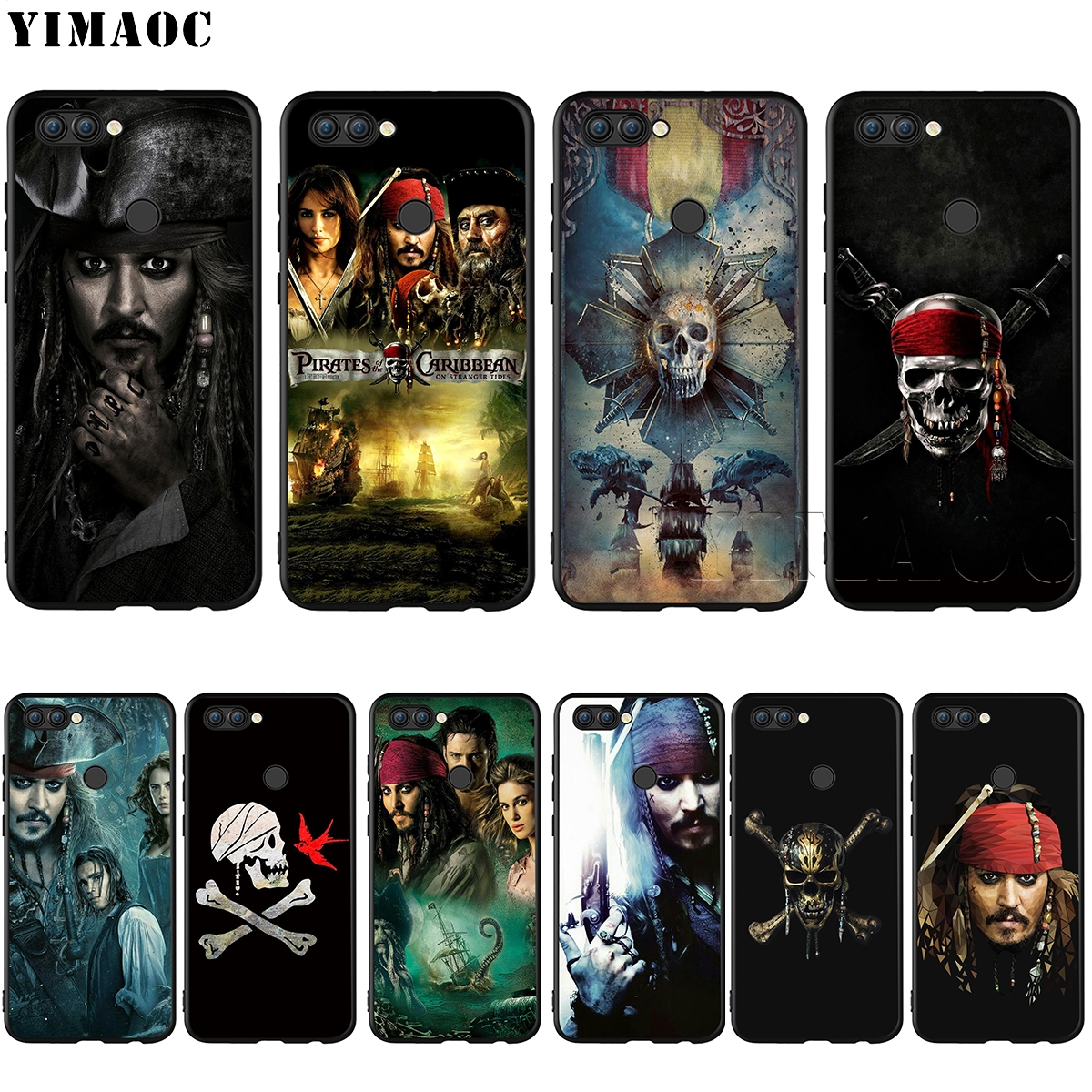 YIMAOC Pirates Of The Caribbean Silicone Case for Huawei Honor Mate Y6 6A 8 9 10 P8 P9 P10 P20 P Smart Lite Pro 2017