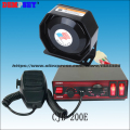CJB-200E wires Car siren,DC12V fire truck / emergency vehicle 200w alarm siren ,200W Speaker alarm,7Tone ,Police car siren