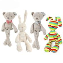 Gratis leverans, 2017 söt bebis barns gåva Kanin kanin plysch leksak kanin sovande gåva gåva födelsedagspresent