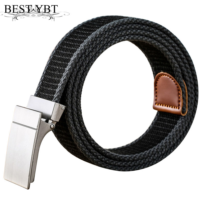 Sweet-Tempered Best Ybt Unisex Canvas Belt Youth Student Fashion Women Alloy Smooth Buckle Belt Casual Cowboy Pants Sport Men Canvas Belt To Be Highly Praised And Appreciated By The Consuming Public Men's Belts