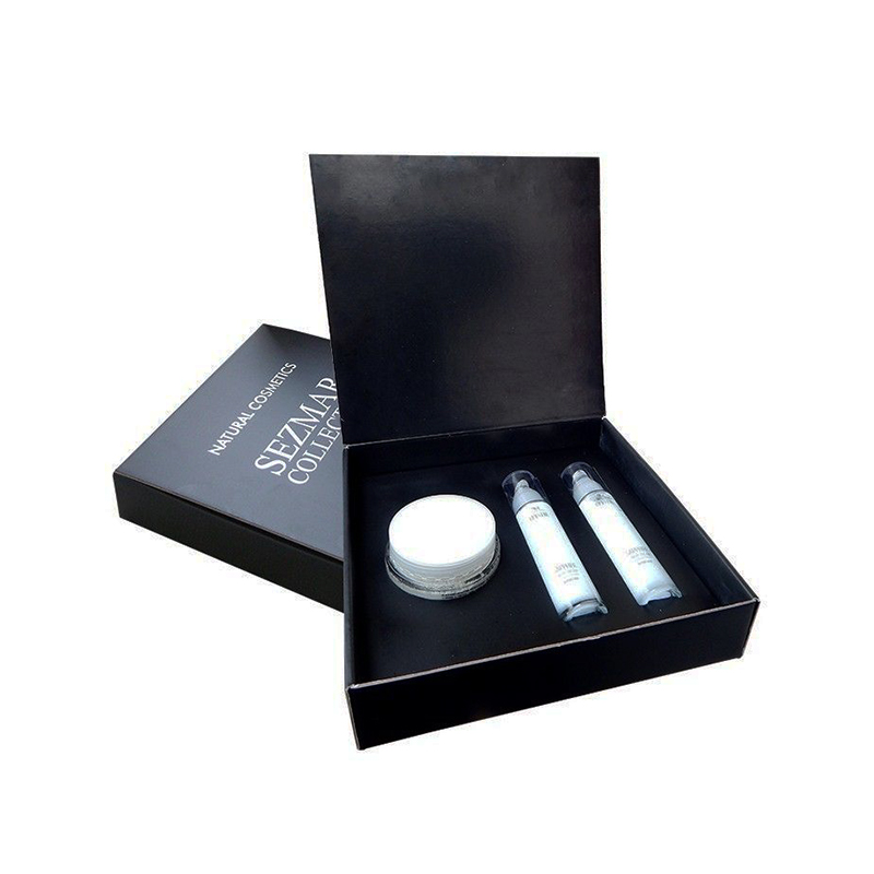 Black Style body lotion gift set packaging box