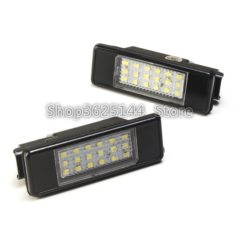 2pcs 18 SMD car <font><b>led</b></font> license plate <font><b>light</b></font> lamp For <font><b>Peugeot</b></font> 106 1007 207 <font><b>307</b></font> 308 3008 406 407 508 607 image