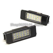 2 pz 18 SMD auto lampada luce targa a led Per Peugeot 106 1007 207 307 308 3008 406 407 508 607