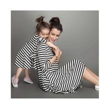 Mädchen Gestreiften Kleider Kinder Baumwolle Kleid Für Baby Mädchen Kinder Streifen Kleider Kleinkind Baby Kleidung Mutter Tochter Kleider Kleidung