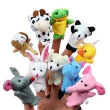 Fantoches de dedo do bebê mini animais mão educacional dos desenhos animados animal de pelúcia boneca fantoches de dedo teatro brinquedos de pelúcia para crianças presentes
