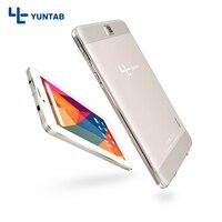 YUNTAB E706 liga de ouro de 7 polegadas Tablet PC Quad Core 1024x600 resolução Android 5.1 Dual Camera 1 GB Adicionar 8 GB Sim Apoio cartão