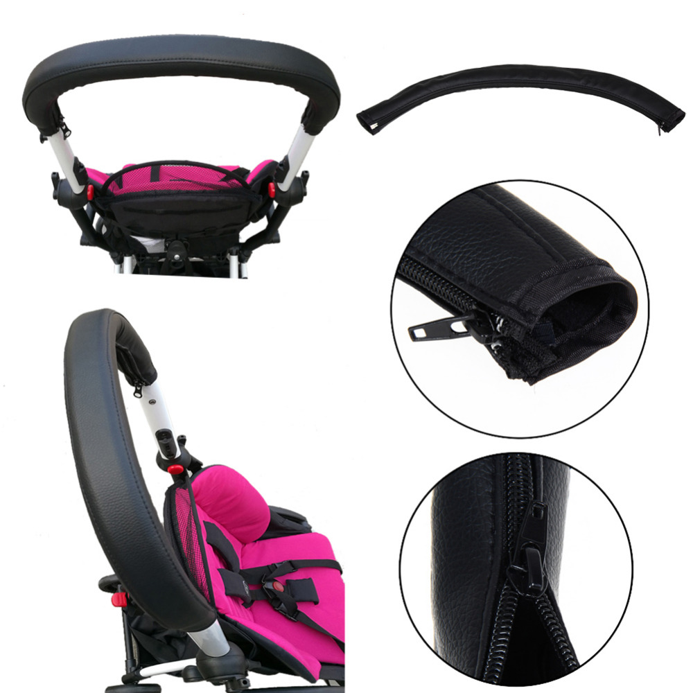 Baby Stroller Handle Cover Baby Stroller Pushchair Wheelchairs Armrest Pu Leather Protective Case Cover Stroller Accessories