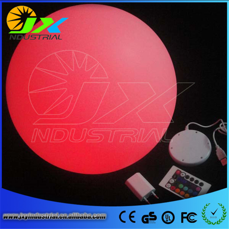 waterproof led rechargeable RGB floating pool ball 20CM with remote led floating ball diameter 20cm