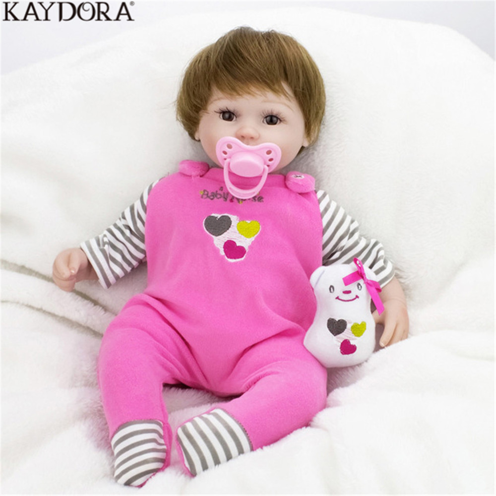 KAYDORA Reborn Girl Baby Body Silicone Kids Toys Newest Handmade Doll Soft Princess Babies Doll Bathe