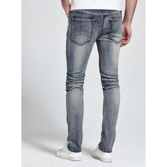 2017 Men Jeans Design Biker Jeans Skinny Strech Casual Jeans For Men Good Quality H1703 4