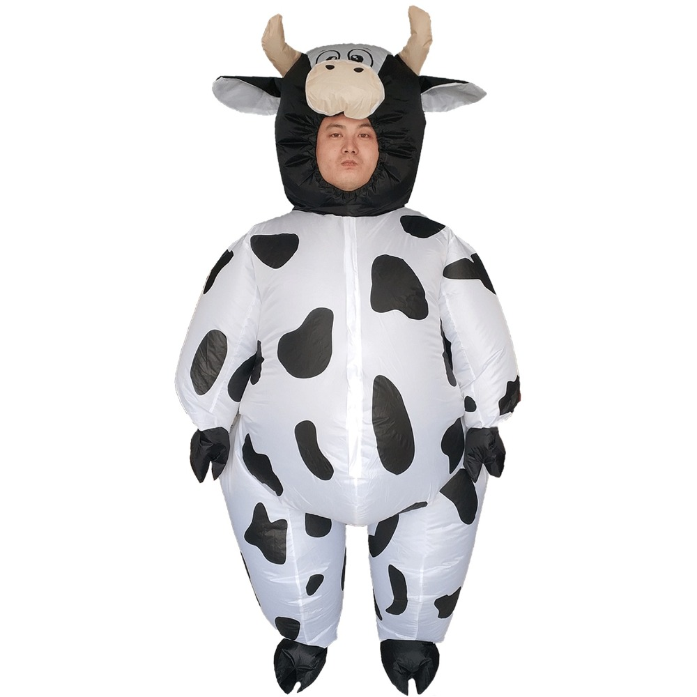 Milk Cow Inflatable Milk Cow Costumes for Adults Animal Halloween Carnival Cosplay Party Fancy Dress Women Men Birthday Outfit in Movie TV costumes from Novelty Special Use