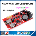 Kaler wifi led display controller card 32x1536 pixel running text led display card XK2W on board wifi signal no need wire