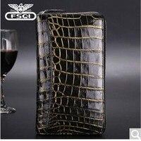 fasiqi Crocodile leather handbag large capacity men's hand bag tuhao gold crocodile bag leather purse tuhao gold (belly)