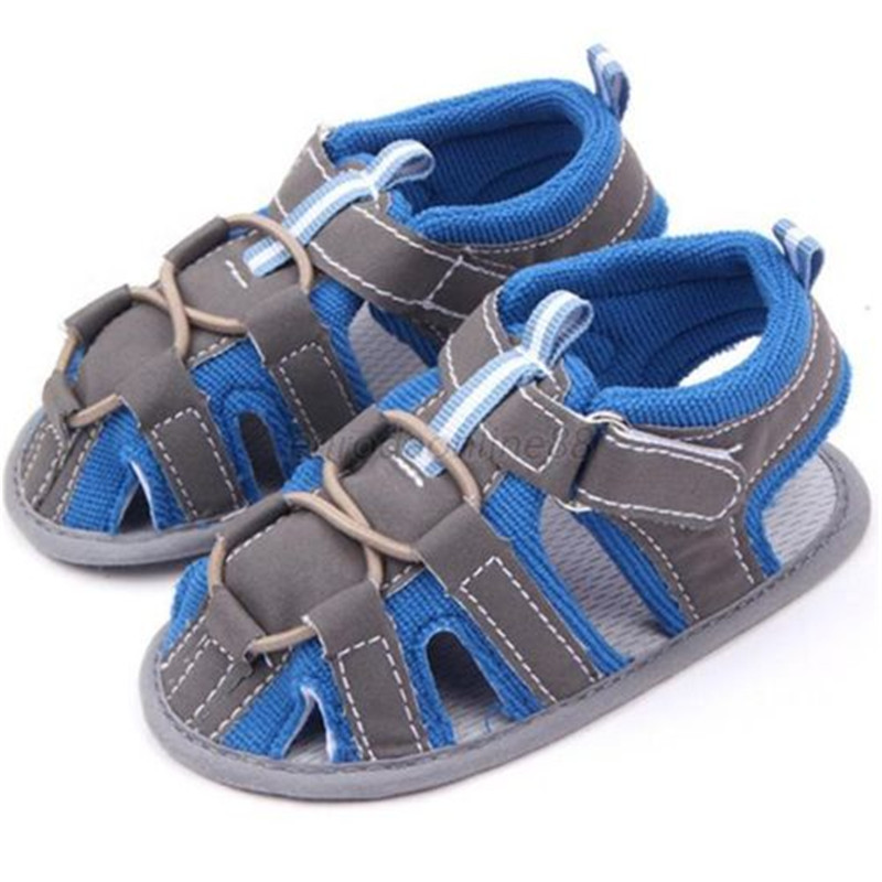Summer Blue/Red Kids Casual Baby Boy Soft Cotton Non-slip Shoes 0-12M ...