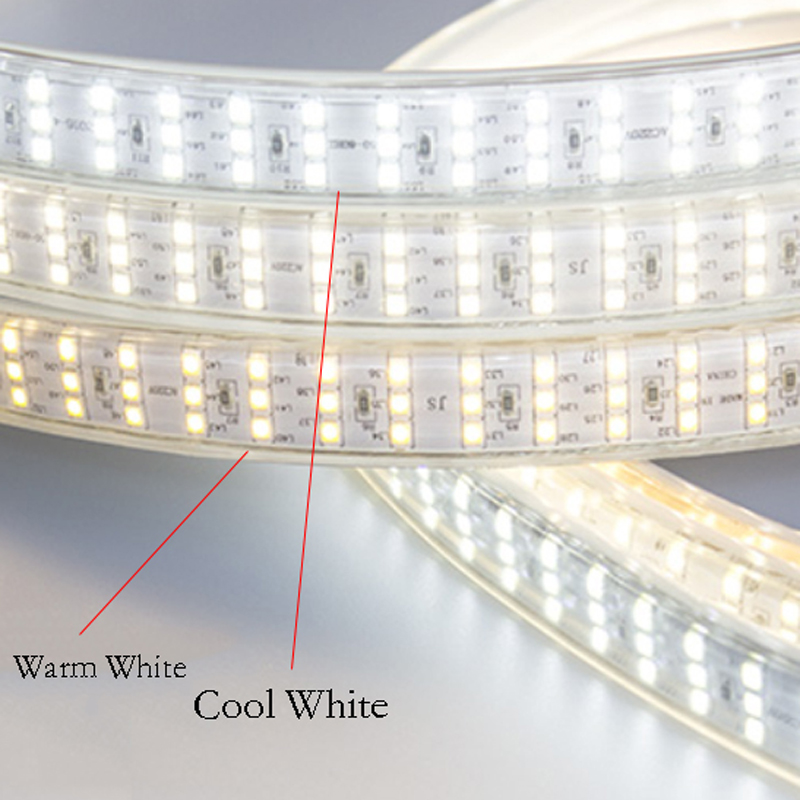 276Leds m SMD 2835 LED Strip 220V Lamp Waterproof Three Row LED Tape Rope Light Flexible LED light Outdoor Decoration Lights in LED Strips from Lights Lighting