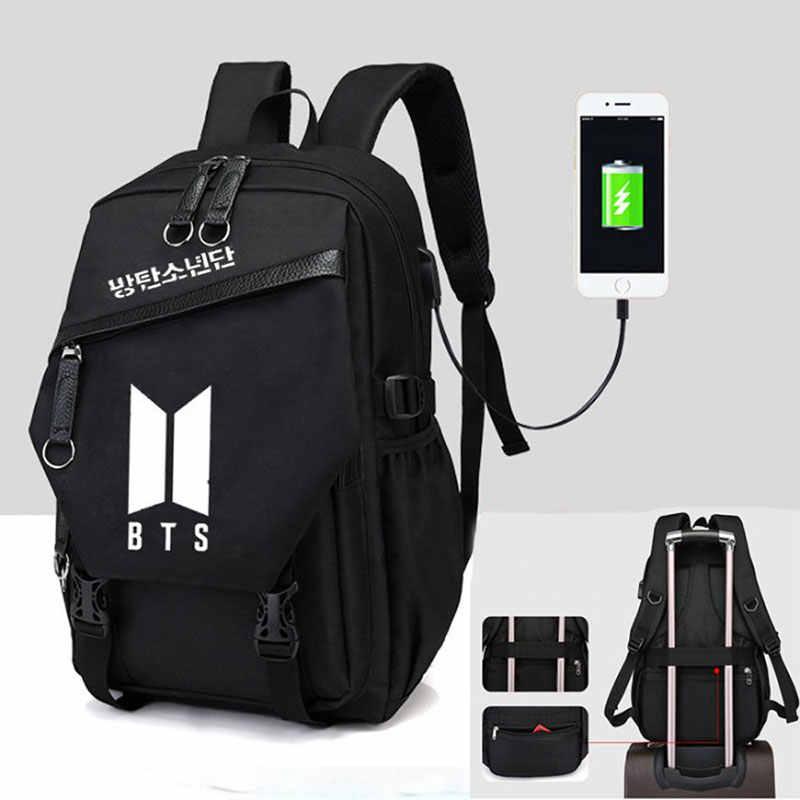 453c88d6569a Мода KPOP Bts рюкзак школьные сумки для девочек-подростков рюкзак-сумка  через плечо,