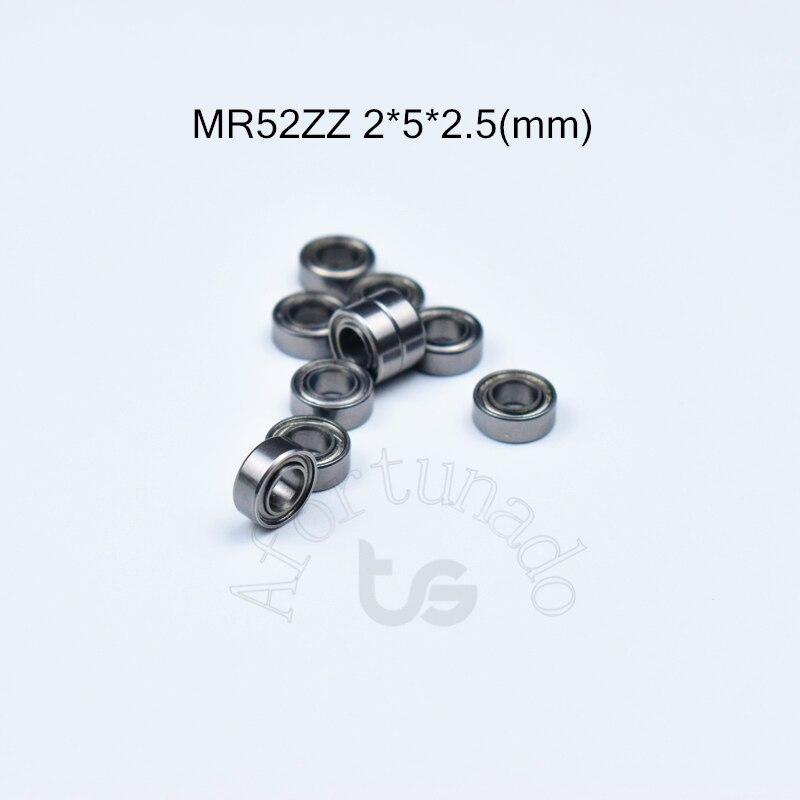 MR52ZZ 2*5*2.5(mm) 10pieces Free Shipping ABEC-5 Metal Sealed Miniature Mini Bearing  MR52 MR52ZZ Chrome Steel  Bearing