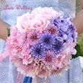 Ручной букет де mariage 2017 Новый на складе Великолепные Свадебные Цветы Невесты Свадебные Букеты Искусственных цветов