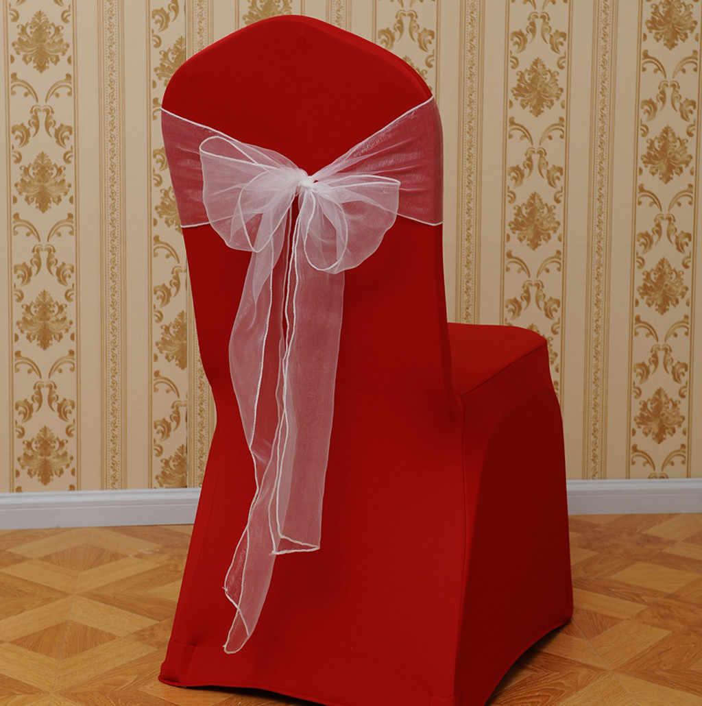Высокое качество 10 шт. отель банкет сплошной цвет фигурка скамейки задняя полоса Чехлы для свадебной вечеринки украшения дома декоративные инструменты