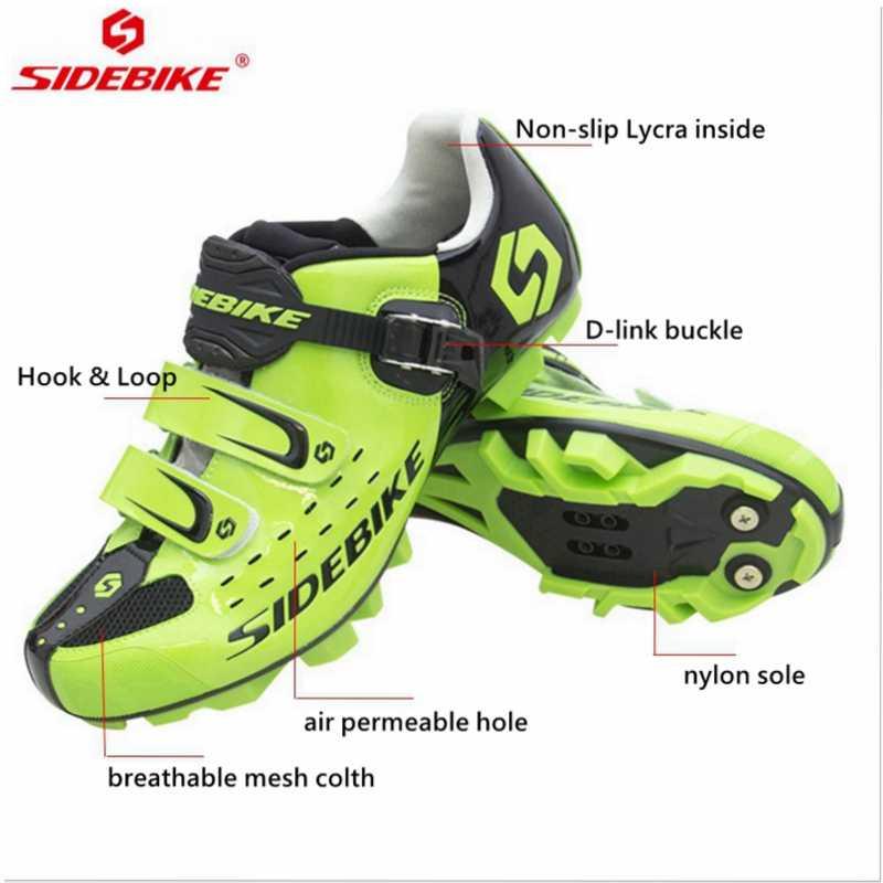 Sidebike profissional auto-bloqueio sapatos de ciclismo mtb men bicicleta sapatos de corrida mountain bike tênis respirável