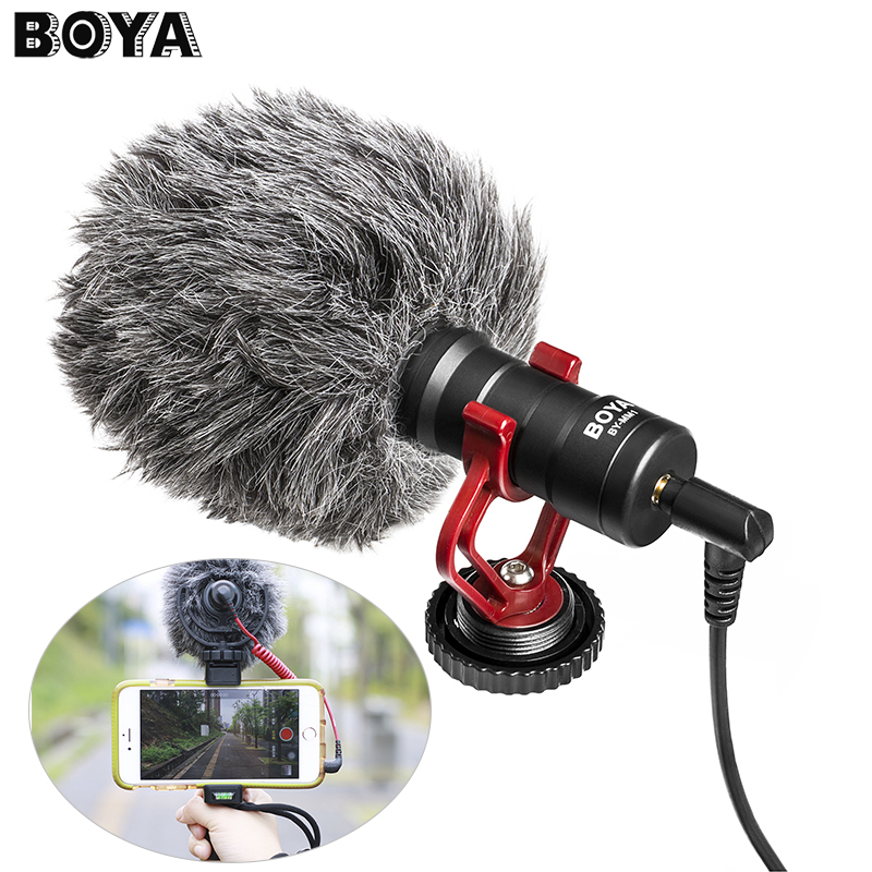 Prix pour Boya by-mm1 compact sur-caméra vidéo microphone youtube vlogging enregistrement mic pour iphone huawei smartphone dji osmo canon dslr