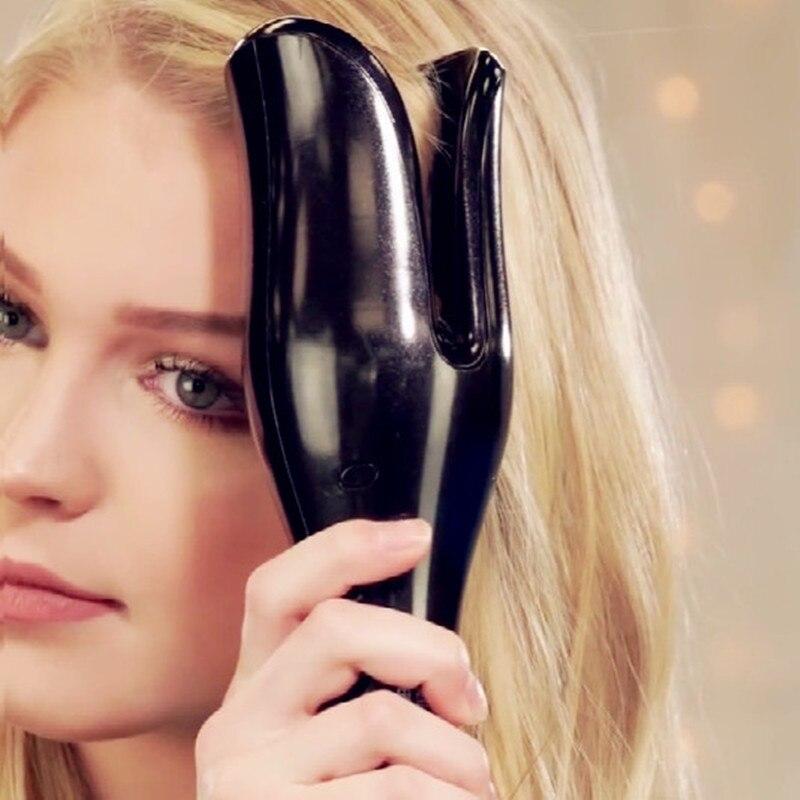 Автоматический выпрямитель для волос воздуха бигуди палочка Curl 1 дюйм вращающийся Magic щипцы для завивки волос Salon Инструменты Титан Автомат...