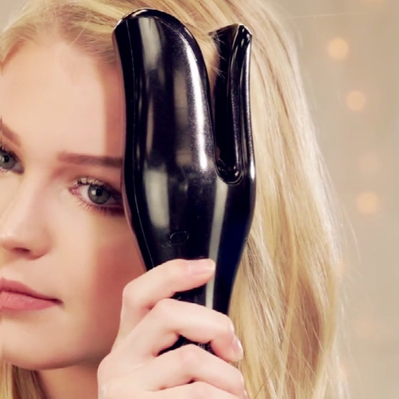 Automática rizador de aire rizador varita Curl 1 pulgadas de magia, plancha de rizado de cabello salón herramientas de titanio de rizador de pelo