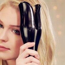 Автоматический выпрямитель для волос Плойка для волос жезловидная Curl 1 дюйм вращающийся Magic щипцы для завивки волос Salon Инструменты Титан Авто бигуди