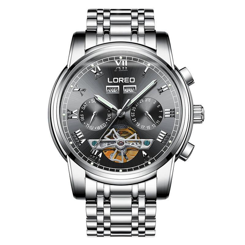 LOREO 6108 Germany watches men luxury brand Tourbillon automatic mechanical Fashion Men's Watch Watch Hollow Luminous Mecanique цена