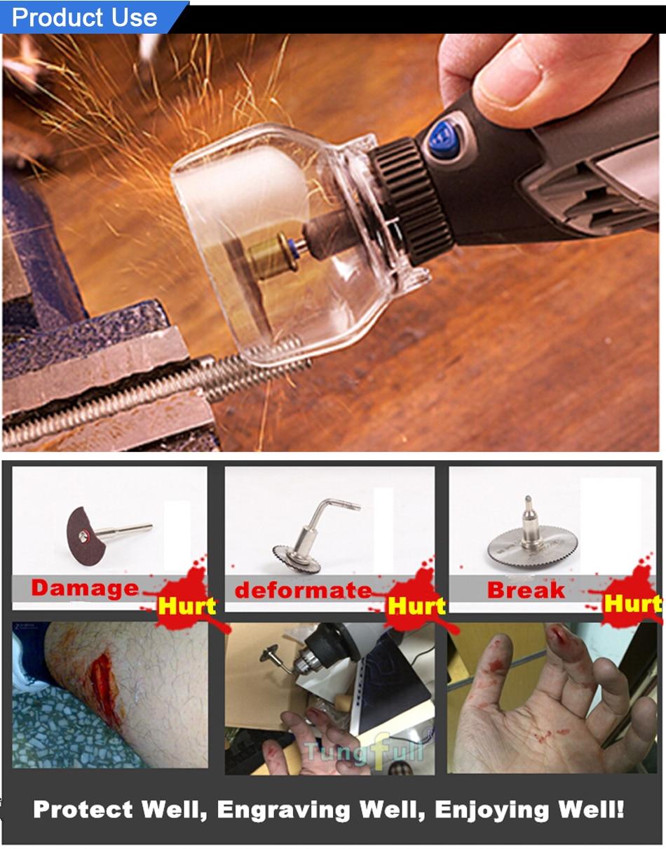 Tungfull DREMEL Grinder Beschermhoes Gesneden Locator Slijpschaal Met - Elektrisch gereedschap accessoires - Foto 5