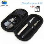 Double eGo T ce4 kit e cigarette Ego T battery with 2 CE4 Atomizers cigarette electronic Starter kit vape pen vaporizer kit