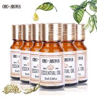 Famous brand oroaroma Musk Patchouli Coffee Melissa Castor Pumpkin Seed Essential Oils Pack For Aromatherapy Spa Bath 10ml*6