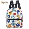 Guapabien Hot Sale Fashion Woman Backpack School Bag Printing Lightweight School Backpacks Women's Bags Zipper Canvas Backpack