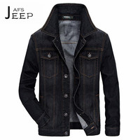 AFS JEEP Double Chest Pockets Man S Black Denim Jacket New Dsign Fashion Man S Water