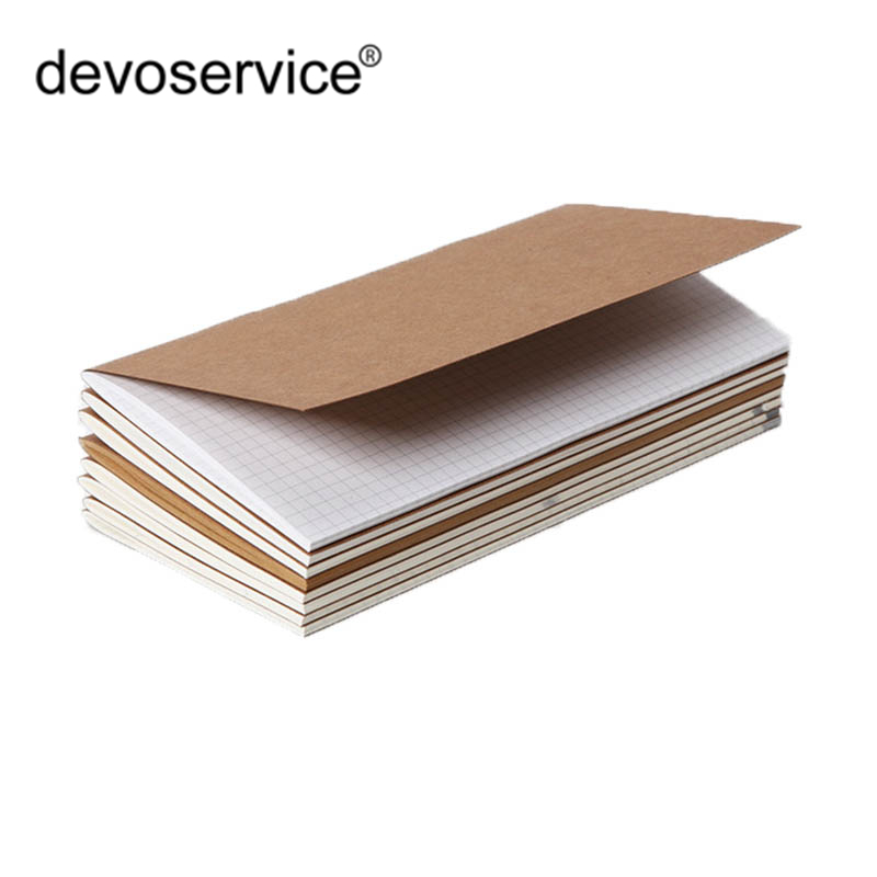 1PC Traveler Replenishment Notebook Replace Inner Core Laptop Diary Travel Journal Refills Insert Kraft Paper Planner Organizer