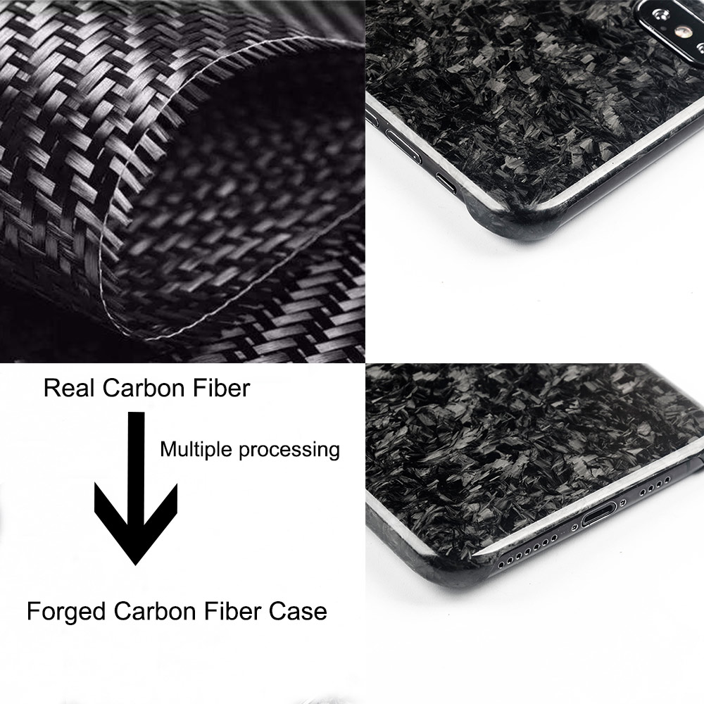 separation shoes e3fd5 b6e57 US $30.6 15% OFF|New Forged Composite Real Carbon Fiber Mobile Phone Case  For iPhone XS MAX Cover Full Protection For iPhone X XS XR Case-in Fitted  ...