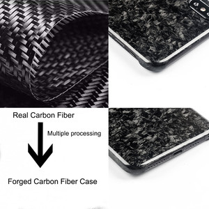 Image 2 - New Forged Composite Real Carbon Fiber Mobile Phone Case For iPhone XS MAX Cover Full Protection For iPhone X XS XR Case