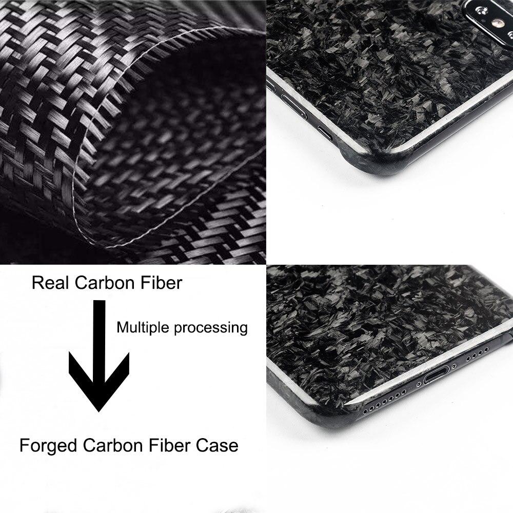 Nouveau étui de téléphone portable en Fiber de carbone Composite forgé pour iPhone XS MAX Protection complète pour étui iPhone X XS XR