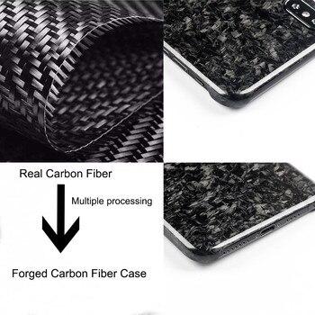 Nueva funda de teléfono móvil de fibra de carbono Real compuesta forjada para iPhone XS cubierta máxima protección completa para iPhone X XS XR caso