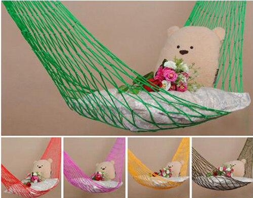 5 PCS JHO-Nylon Hang Rope Hammock Mesh Net Sleeping Bed Travel Camping Outdoor Garden New