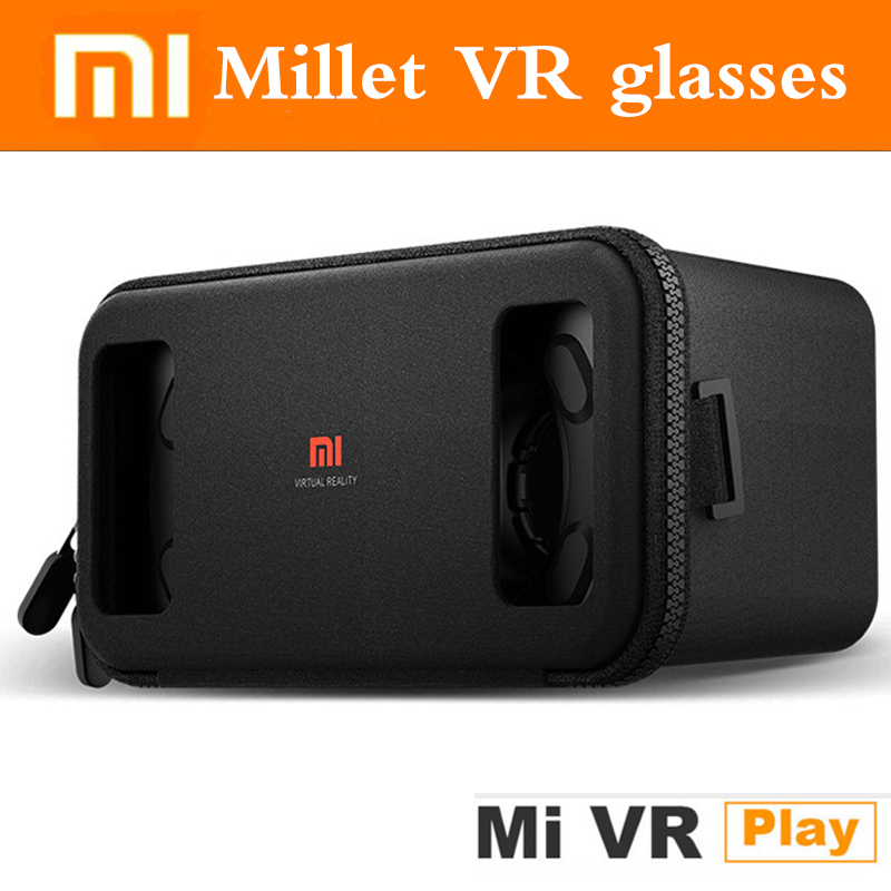 Original Xiaomi VR Virtual Reality 3D Glasses Mi VR Box 3D Virtual Reality Glasses cardboard MI VR For 4.7-5.7 inch smart phone new diy google cardboard virtual reality vr mobile phone 3d viewing glasses for 5 0 screen google vr 3d glasses