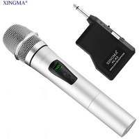 XINGMA PC-K3 콘덴서 노래방 마이크 무선 휴대용 수신기 금속 LCD 마이크 비디오 녹화 KTV