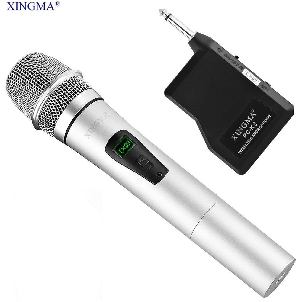 xingma pc k3 condenser karaoke microphone wireless handheld with receiver metal lcd microphone. Black Bedroom Furniture Sets. Home Design Ideas