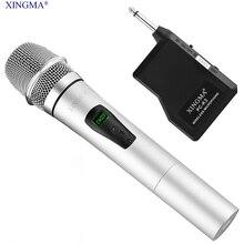 XINGMA PC-K3 Condensador Micrófono de Karaoke Portátil Con Receptor Inalámbrico LCD de Metal KTV Micrófono Para la Grabación de Vídeo